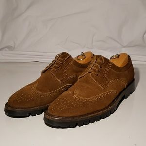 TO BOOT NEW YORK suede wingtip oxfords 9